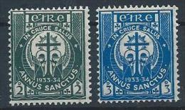 Irlande 1933 N°62/63 Neufs * MVLH Année Sainte - 1922-37 Irish Free State