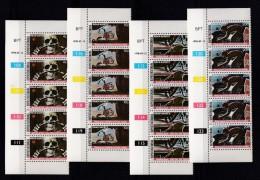 BOPHUTHATSWANA, 1978, MNH Controls Strips Of 5, Road Safety, M 25-28 - Bophuthatswana