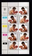 BOPHUTHATSWANA, 1979, MNH Controls Strips Of 5, World Titel Fight Boxing, M 41-42 - Bophuthatswana