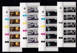 BOPHUTHATSWANA, 1979, MNH Controls Strips Of 5, Platinum, M 47-50 - Bophuthatswana