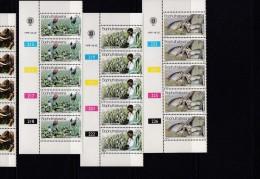 BOPHUTHATSWANA, 1979, MNH Controls Strips Of 5, Agriculture, M 51-54 - Bophuthatswana