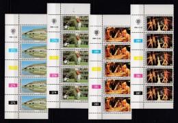 BOPHUTHATSWANA, 1980, MNH Controls Strips Of 5, Tourism, M 64-67 - Bophuthatswana
