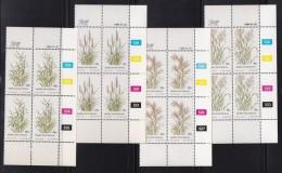 BOPHUTHATSWANA, 1984, MNH Controls Block Of 4, Grasses, M 116-119 - Bophuthatswana