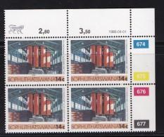 BOPHUTHATSWANA, 1986, MNH Controls Block Of 4, Definitive 14 Cent, M 169 - Bophuthatswana