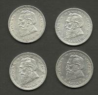 LITHUANIA Litauen 1936 = 4 X Silbermünze Silver Coin - Litauen