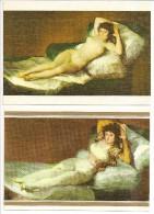 GOYA - La Maja Desnuda (la Maya Nue) & La Maja Vestida (habillée) - MUSEO DEL PRADO - Peintures & Tableaux
