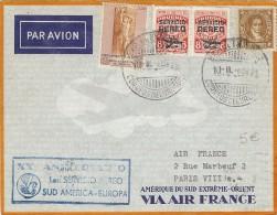 LBL31 - URUGUAY LETTRE AVION 10/MARS 1948 - Uruguay