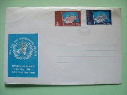 Zambia 1966 FDC Cover WHO Headquarters Geneva - Zambie (1965-...)
