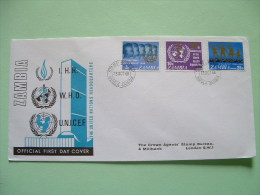 Zambia 1968 FDC Cover To England - Human Rights - UNICEF WHO Children - Zambie (1965-...)
