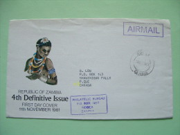 Zambia 1982 Official Cover (no Stamps) To Canada - Nude Woman - Zambie (1965-...)