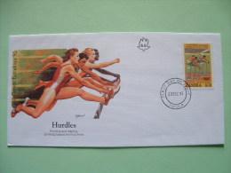 Zambia 1992 FDC Cover - Olympic Games Barcelona - Women Running Hurdles - Zambie (1965-...)
