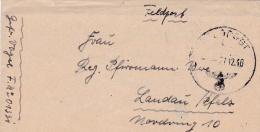 Feldpost WW2: From Suippes In North-Eastern France -  2. Radfahr-Schwadron Polizei-Pionier-Bataillon FP 01331 P/m 27.12. - Militaria