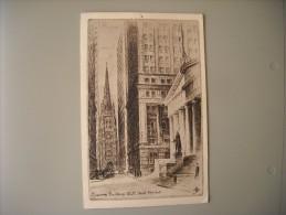 ETATS UNIS NY NEW YORK CITY TREASURY BUILDING WALL STREET - Wall Street