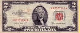 Stati Uniti D�America - Banconota circolata da 2 Dollari series 1953B bollino rosso (L2)
