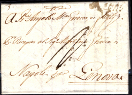 """Napoli-00130 - Piego Con Testo, Del 1779, Da Bisceglie. Reca L'impronta Del Bollo """"Regno"""" N.19 Del Mio Catalogo. - Italia"""