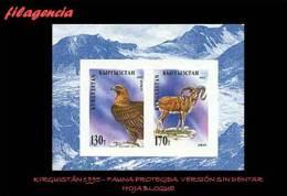 ASIA. KIRGUISTÁN MINT. 1995 PROTECCIÓN DE LA FAUNA. ANIMALES DIVERSOS. EMISIÓN SIN DENTAR. HOJA BLOQUE - Kyrgyzstan