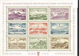 Wiener Internationale Postwertzeichen  -   Vignette  -   1965   Rechte Ecke  O.und U.  Beschädigt - Probe- Und Nachdrucke