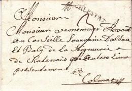 LAC Du 9.1.1752 Avec Griffe SCHLESTAT Adressée à Colmar - Indice 17 - Elsass-Lothringen