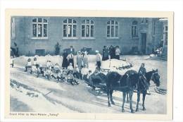 """12832 - Grand Hôtel Du Mont Pélerin """"Tailling"""" Partie De Luges Et Attelage - VD Vaud"""