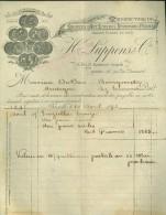 Facture ( 185 )  factuur  :  Bronzes d' Art Lustres , Pendules H.Luppens & Cie