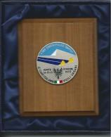 MED035.1 -MEDAGLIA RICORDO 4° CAMPIONATO ITALIANO VIGILI URBANI - TRENTO-MONTE BONDONE 1973 - Sport Invernali
