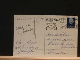 54/328   BRIEKAART  1954 GRONINGEN   DATUMSTEMPEL OMGEKEERD - Entiers Postaux