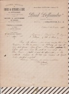 Facture / Courrier 1913 GRAINES BETTERAVES PAUL DEFLANDRE ORCHIES - France