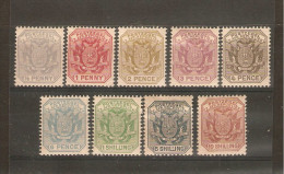 TRANSVAAL 1895-1896 SET SG 205a/212a MOUNTED MINT Cat £68 - Transvaal (1870-1909)