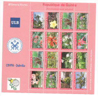 Guinée 2007 ? Environnement Végétal Flora Flore Blüten Flowers Sheet Of 16 Stamps Kleinbogen Bloc De 16 - Guinea (1958-...)