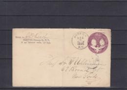 Etats Unis - Entier Postal De 1895 - Oblitération Norwich - Expédié Vers New York