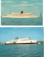 2 CARTES PAQUEBOT - Passagiersschepen
