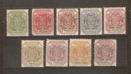 TRANSVAAL 1896-1897 SET SG 216/224 MOUNTED MINT Cat £24+ - Transvaal (1870-1909)