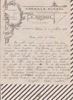 Facture / Courrier 1933 CLEDER CHENILLE TUNNEL HOFFMANN - 1900 – 1949