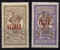 MARTINIQUE - 2 Surchargés De 1924 - Martinique (1886-1947)