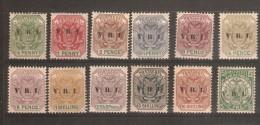 TRANSVAAL 1900 OVERPRINT SET SG 226/237 MOUNTED MINT - Transvaal (1870-1909)