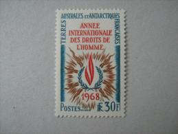 TAAF    P 27 * *     DROITS DE L HOMME - Unused Stamps