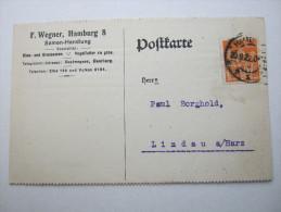 1922 , Hamburg     Firmenlochung , Perfin , Beleg - Briefe U. Dokumente