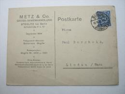 1923 , Berlin Steglitz     Firmenlochung , Perfin , Beleg - Briefe U. Dokumente