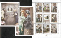 Mongolia,  Scott 2015 # 2366-2368,  Issued 2000,  Sheet Of 9 + 2 S/S,  MNH,  Cat $ 7.00,  I Love Lucy - Mongolia