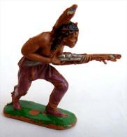 FIGURINE JECSAN INDIEN Fusil EN AVANT  1:32 Pas Cherilea STARLUX CLAIRET, OUGEN, CYRNOS, ELASTOLIN - - Militari