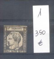 NOUVELLE CALEDONIE AN 1859 YVERT NR. 1 - LITOGRAPHIE SOLD AS IS RARISIME AVEC CHARNIERE - Ongebruikt