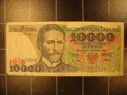 Pologne 10000 Zlotych P151b Circulé - Polen
