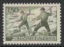 Finland Suomi 1963 Mi 582 Ph YT 546 ** Loggers Afloat /  Flößer / Houthakkers Op Houtvlot Op Rivier - Transportmiddelen