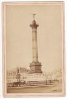 CARTE Photo Ancienne Paris La Colonne De Juillet Delafosse Au Graphoscope 19ème - Lieux