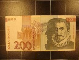 Slovenie 200 Tolarjev 15 01 1992 P15 Circulé - Slovénie