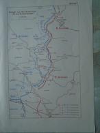 WWI  MAP - Polen Poland  -Kämpfe Bei Nw.Aleksiniec  Battle Map  1914 Kremieniec Dunajew  Tarnopol Military Map     S0447 - Karten