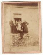 CARTE Photo Ancienne Cyclisme Vélo Bicyclette Famille 19ème - Ciclismo
