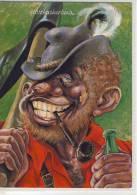 Humor, Umorismo - Jux AK -Urlaub In Den Bergen, Type, Vacances à La Montagne, Vacanze In Montagna, - Humour