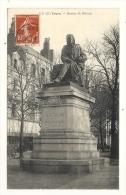 Cp, 37, Tours, Statue De Balzac, Voyagée 1908 - Tours