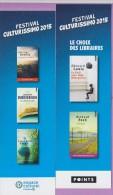Marque-page  °°  Festival Culturissimo 2015 - Points  :-.  E Louis °  En Finir Avec Eddy Bellegueule.  6 X 20 - Marque-Pages